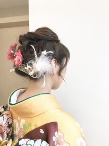 facedeco成人式スタイル